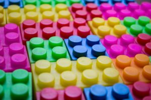 lego bricks made using plastic injection moulding