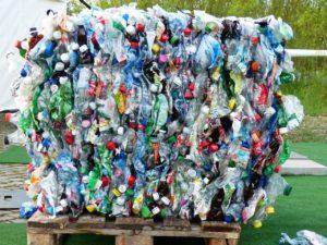 plastic bottles stacked together